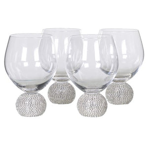 Ball Base Glasses With Diamante Effect