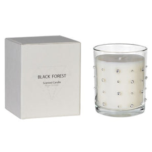 Black Forest Diamante Candle