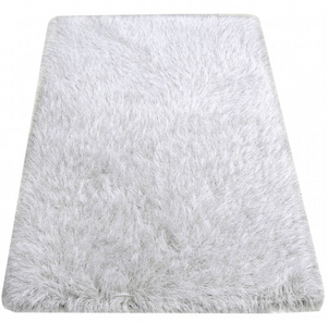 White Rug with Silver Thread in 3 Sizes