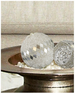 White Beaded Ball Decoration