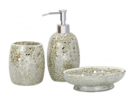 Gold Mosaic Bathroom Set