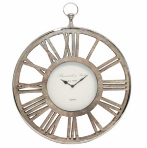 Runswick Nickel & Wooden Clock