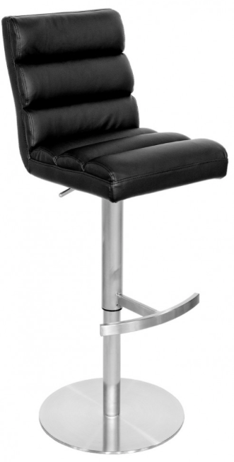Gas Lift Faux Leather Bar Stool