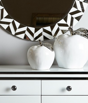 White/Silver Decorative Apple
