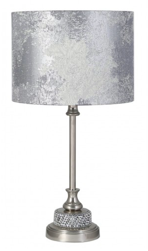 Nickel Diamanté Table Lamp