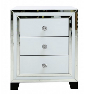 3 Draw White Bedside Unit