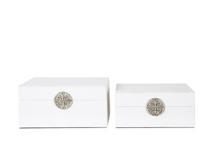 White Faux Leather Jewellery Boxes