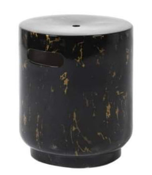 Black Marble Effect Stool
