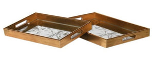 Stag Mirrored Trays