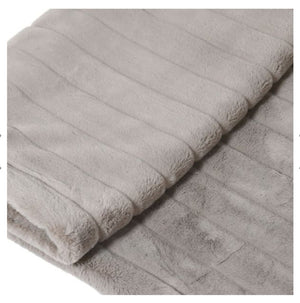 Silver Striped Throw