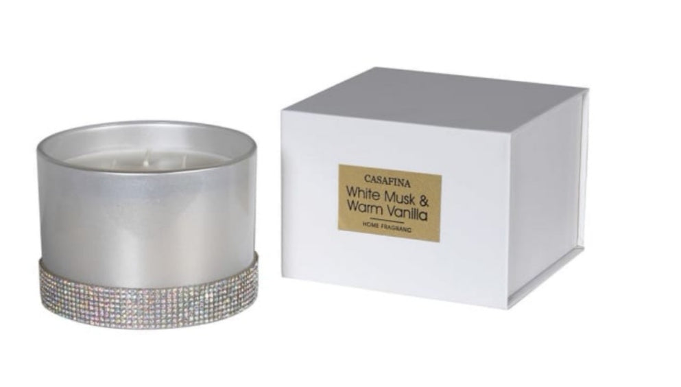 White Musk & Warm Vanilla Candle