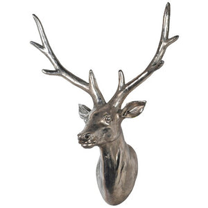 Silver Wall Hanging Deer Head