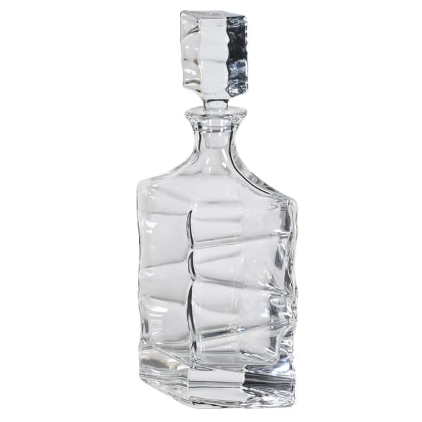 Twisted Patterened Glass Decanter