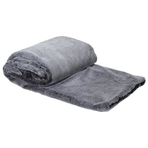 Dk.grey Faux Fur Throw