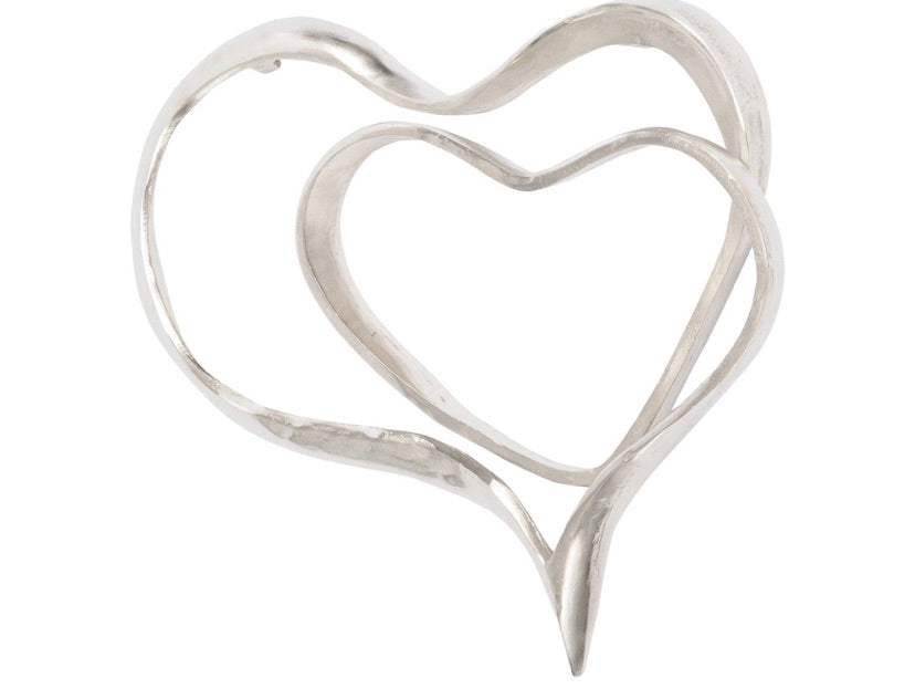 Abstract Hearts Wall Sculpture