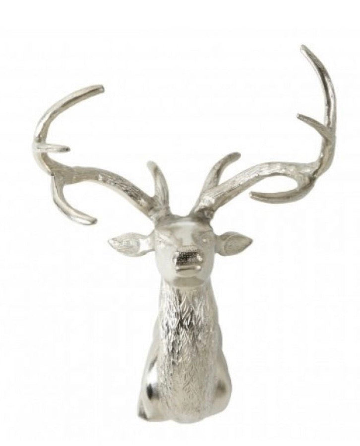 Wall Mounted Stag With Curved Antlers