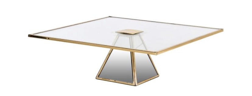 Glass Cake Stand with Gold Rim