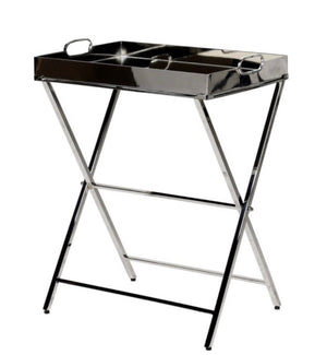 Stainless Steel Tray Table on Stand