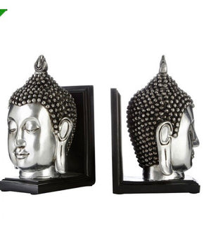 Buddha Head Bookends