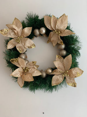 Gold Flowered Wreath