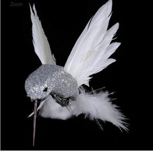 White and Silver Humming Bird