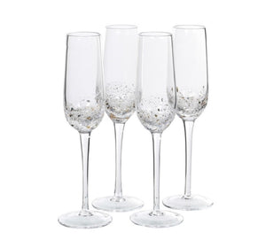 Gold Fleck Champagne Glasses