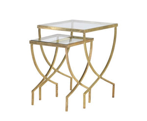 Nest of 2 Greek Curve Gold Tables