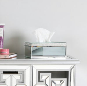 Glitz Mirrored Tissue Box Holder