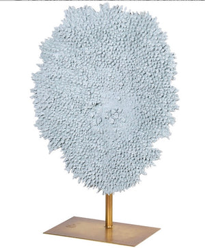 Pale Blue Faux Coral on Stand