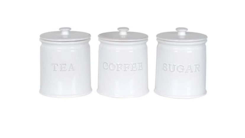 Ceramic Tea, Coffee & Sugar Jars