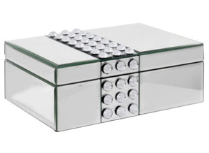 Silver Jewellery Box with Acrylic Cabochons