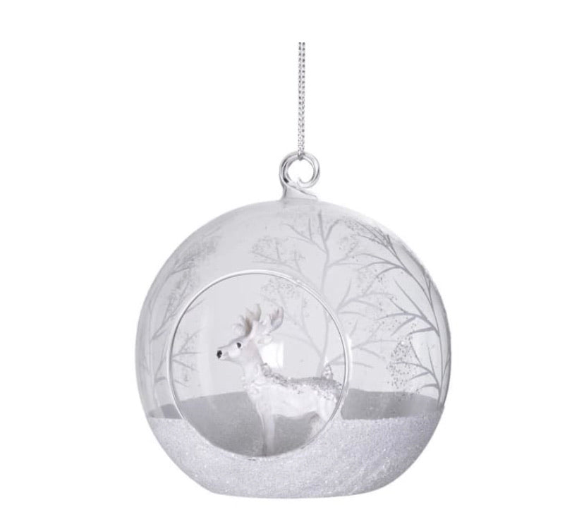 Reindeer in Glass Bauble
