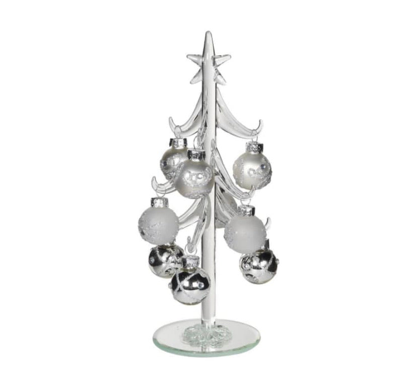 White & Silver Bauble Tree