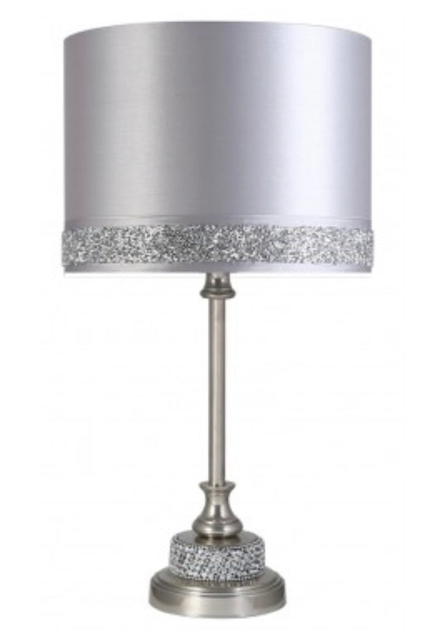 Diamante Lamp With Silver Milano Shade