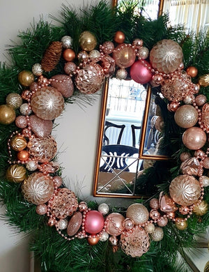 Rose Gold Wreath