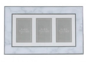 Horizontal Photo Frame in Grey Marble