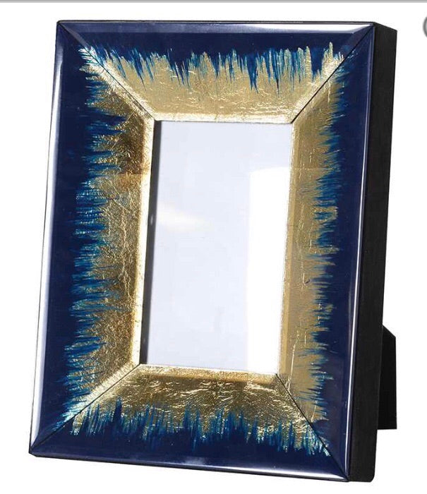 Navy and Gold Photo Frame