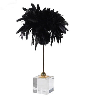 Black Feather Decoration on Stand