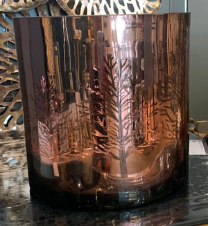 Copper Tree Glass Hurricane