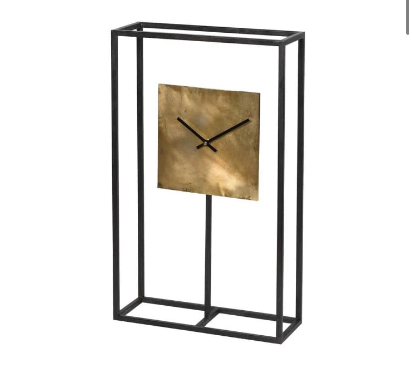 Black & Gold Table Clock