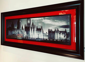 London Black & White Framed Photo