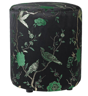 Green Oriental Footstool