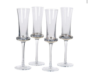 Diamanté Shaped Flute Glasses