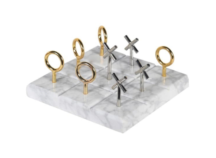Marble Noughts and Crosses Set