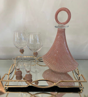Pink Glass Decanter