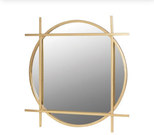 Gold Square Framed Mirror