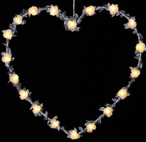Lit Beaded Heart