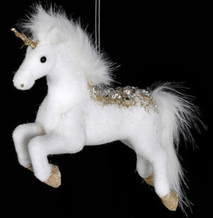 White & Gold Hanging Unicorn