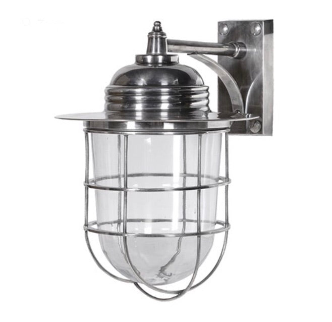 Caged Outdoor Wall Lamp