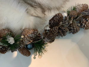 Frosted Fur Cone Garland